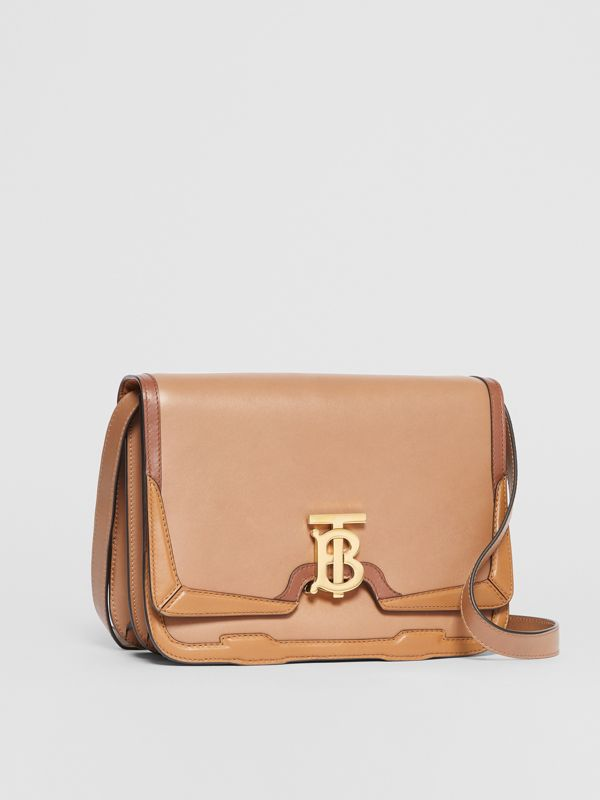 Medium Appliqué Leather TB Bag in Warm Camel - Women | Burberry - cell image 3
