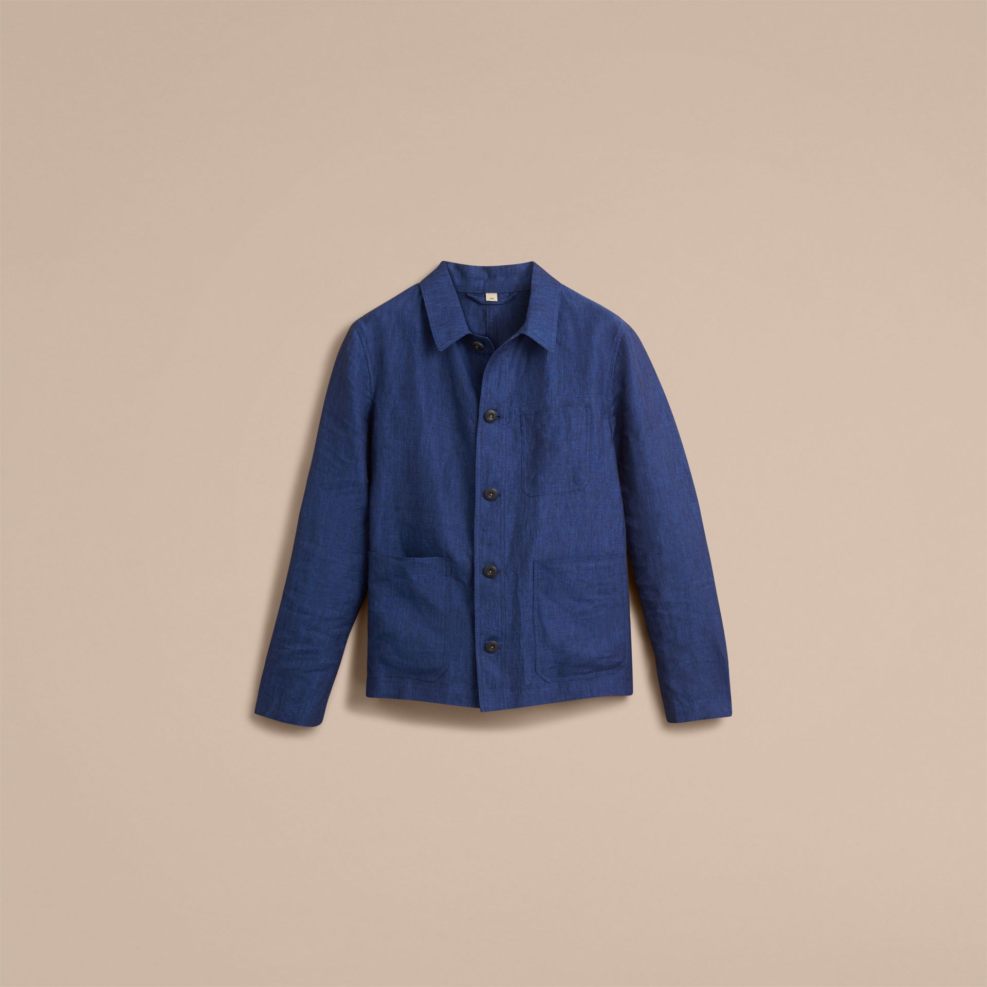 Linen Workwear Jacket - Men | Burberry - gallery image 4