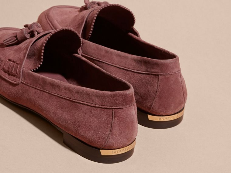 Tasselled Suede Loafers Taupe Rose - cell image 4