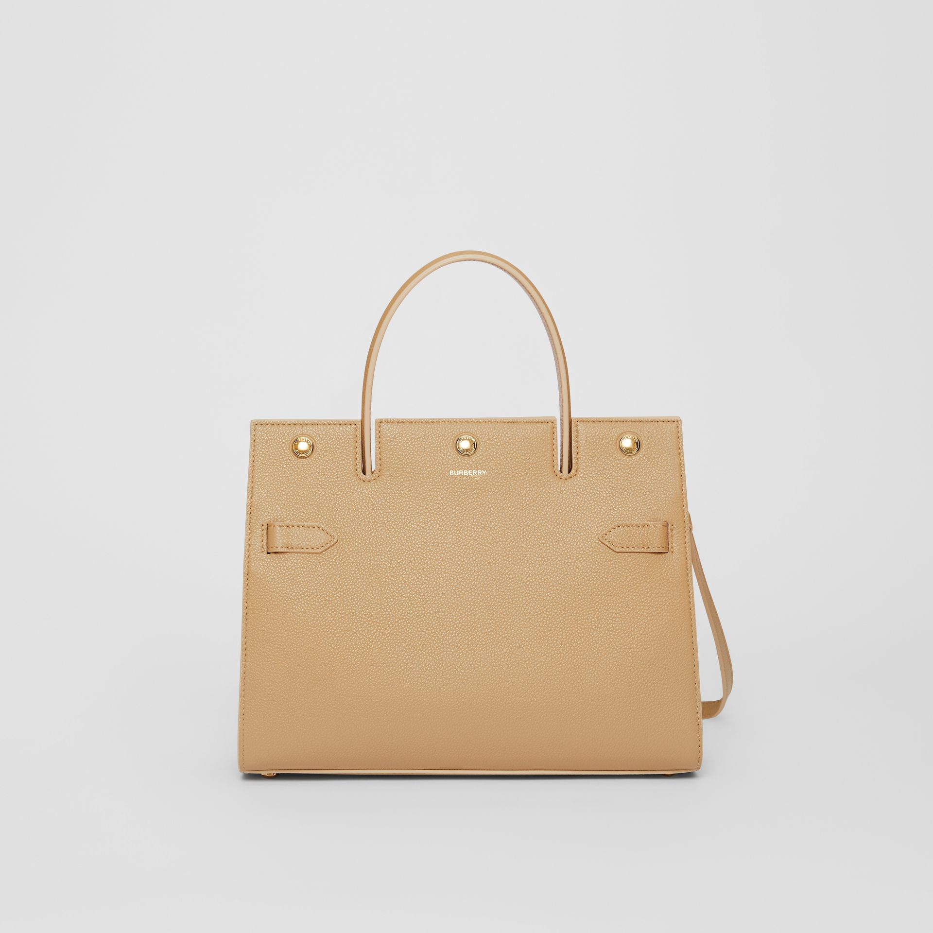 Small Leather Title Bag in Honey - Women   Burberry - gallery image 0