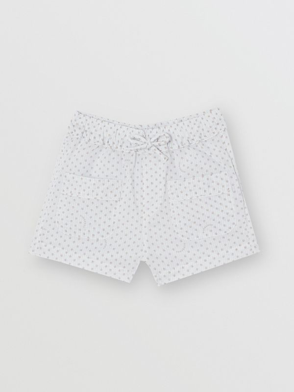 Paw Print Striped Cotton Three-piece Baby Gift Set in Natural White - Children | Burberry - cell image 3