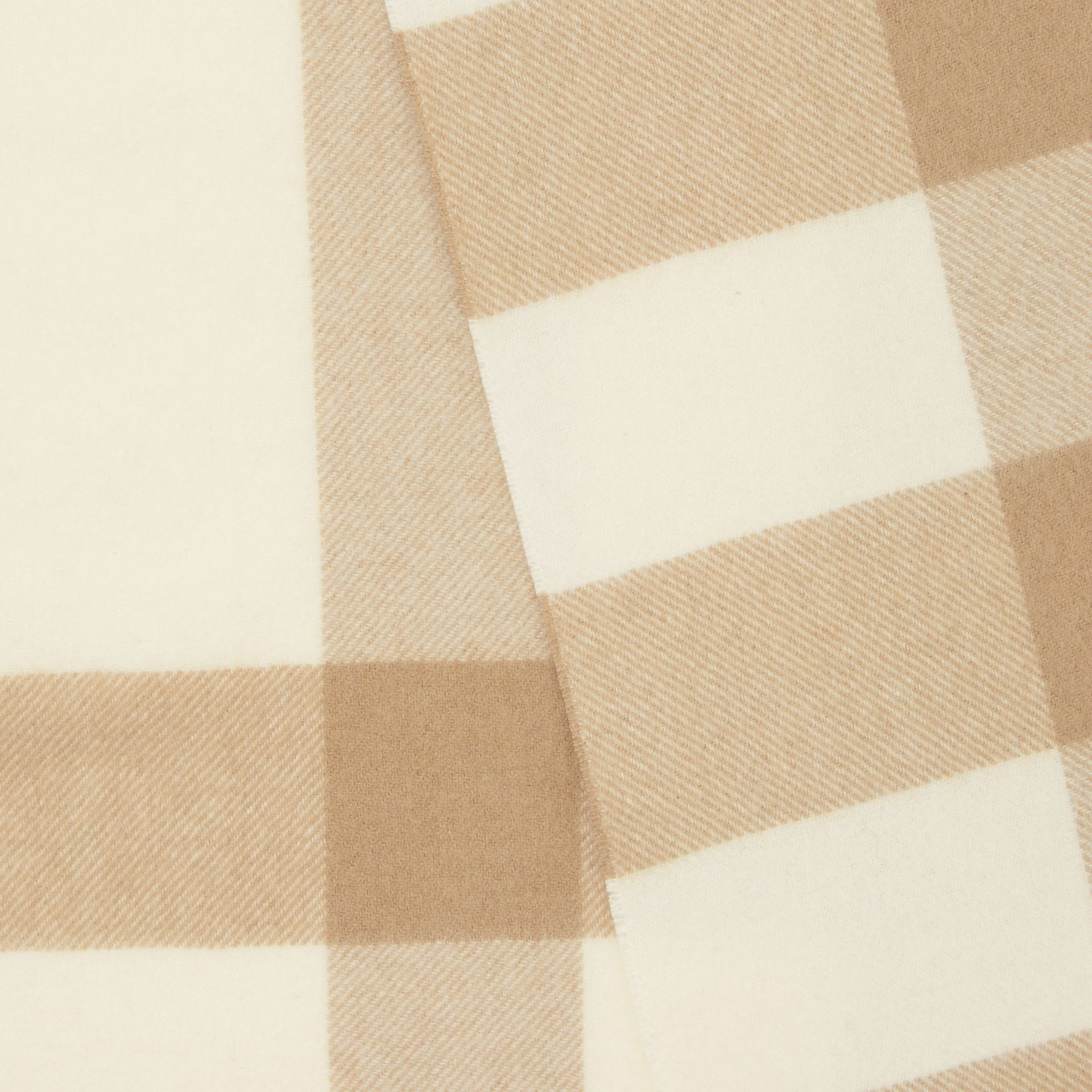 Check Cashmere Scarf in White | Burberry - gallery image 1