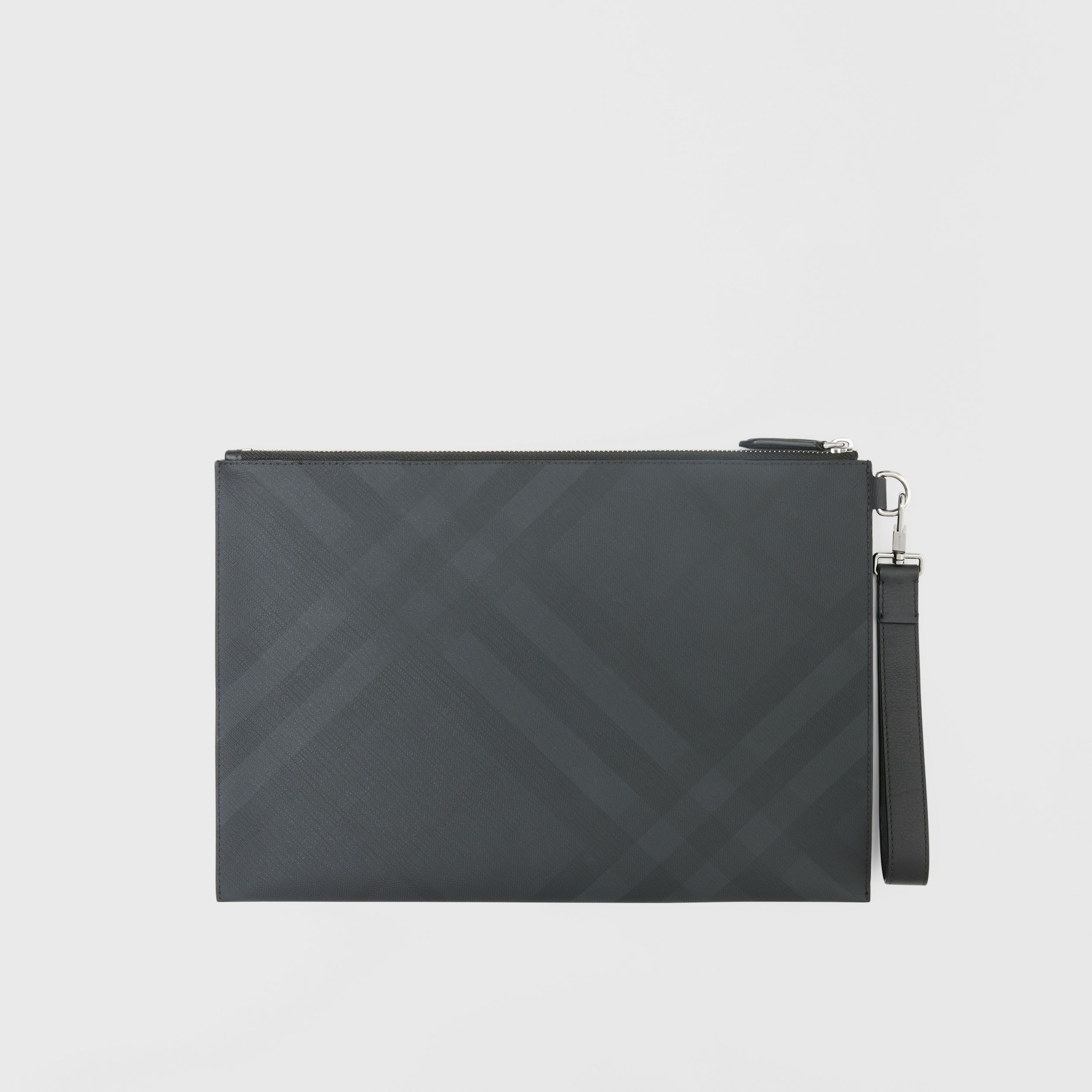 Large London Check Zip Pouch - Men | Burberry Singapore - 1