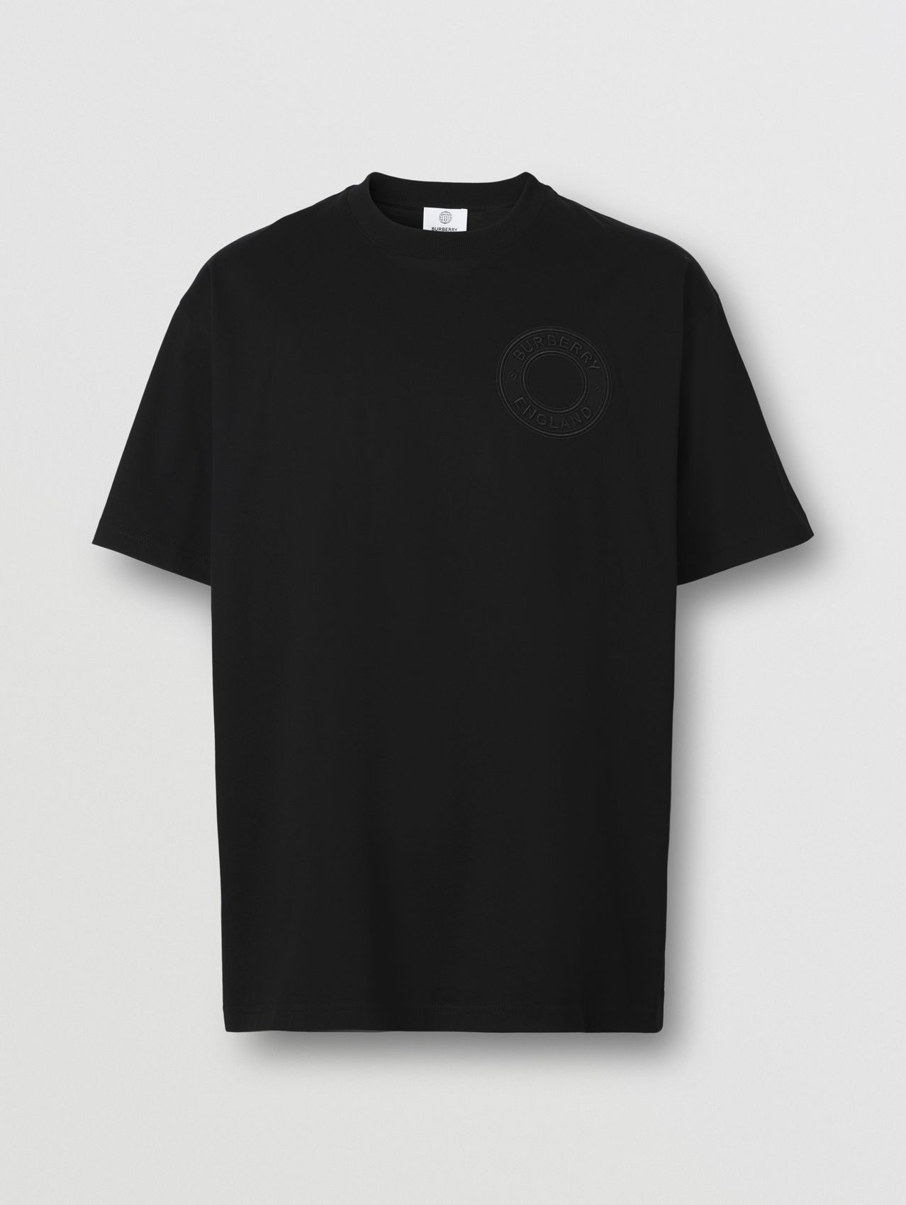 Logo Graphic Cotton Oversized T-shirt in Black
