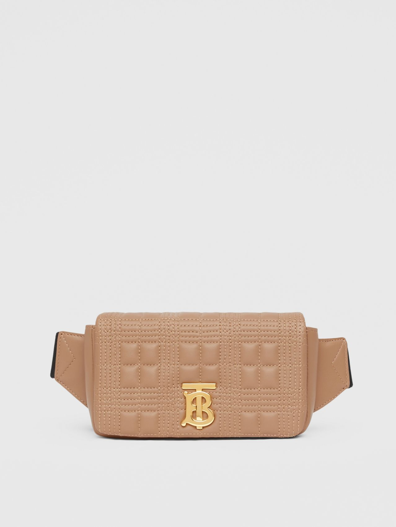Quilted Lambskin Lola Bum Bag in Camel