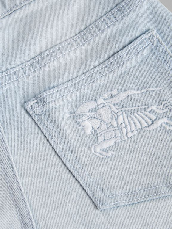 Relaxed Fit Bleached Jeans in Light Blue | Burberry - cell image 1