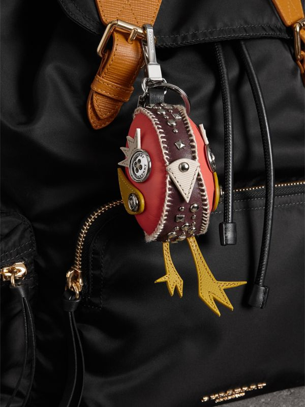 Derek The Bird Leather Charm in Deep Claret - Women | Burberry Canada - cell image 2