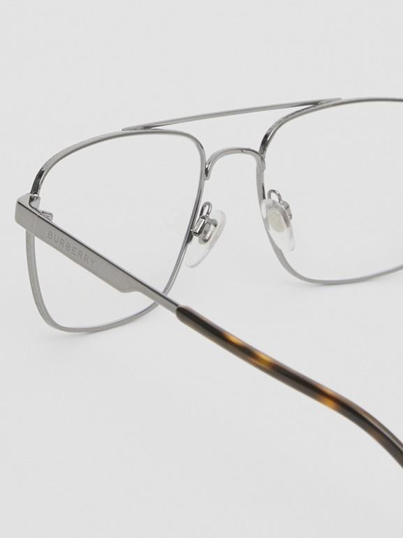 Rectangular Navigator Optical Frames in Dark Grey | Burberry Canada - cell image 1