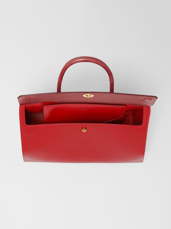 Small Leather and Suede Elizabeth Bag in Bright Military Red - Women | Burberry Singapore - cell image 3