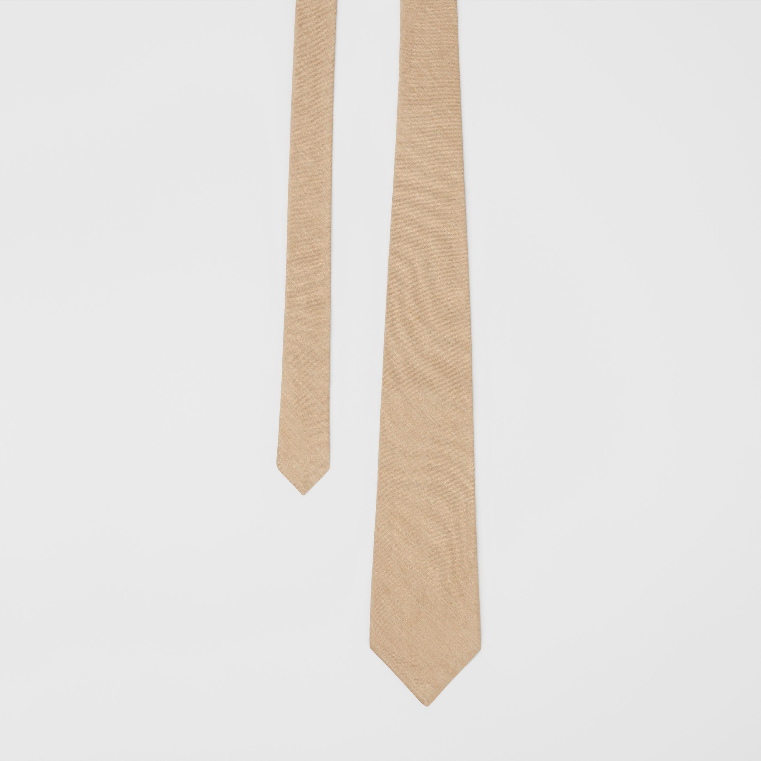 Classic Cut Silk Tie in Soft Fawn - Men | Burberry - 1