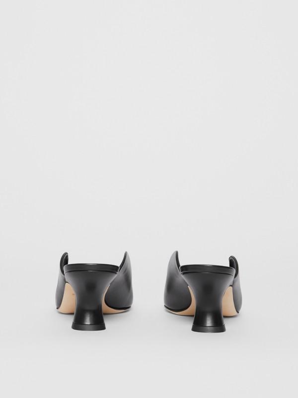 Mules à bout pointu en cuir (Noir) - Femme | Burberry - cell image 3