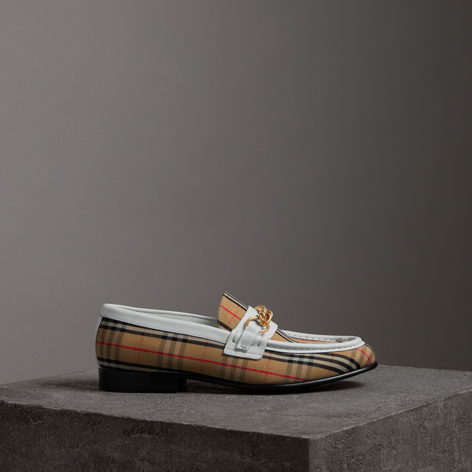 The 1983 Check Link Loafer in Off White - Women | Burberry United Kingdom - gallery image 0