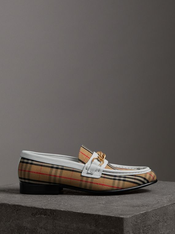 The 1983 Check Link Loafer in Off White
