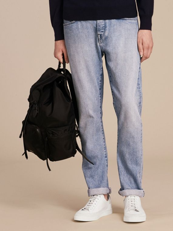 Straight Fit Japanese Light-wash Denim Jeans