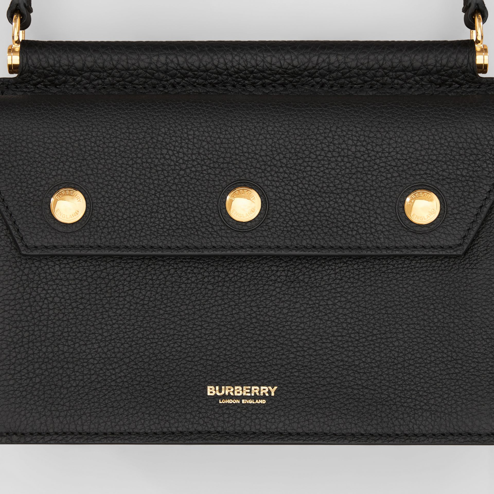 Mini Leather Title Bag in Black - Women | Burberry Hong Kong S.A.R. - gallery image 1