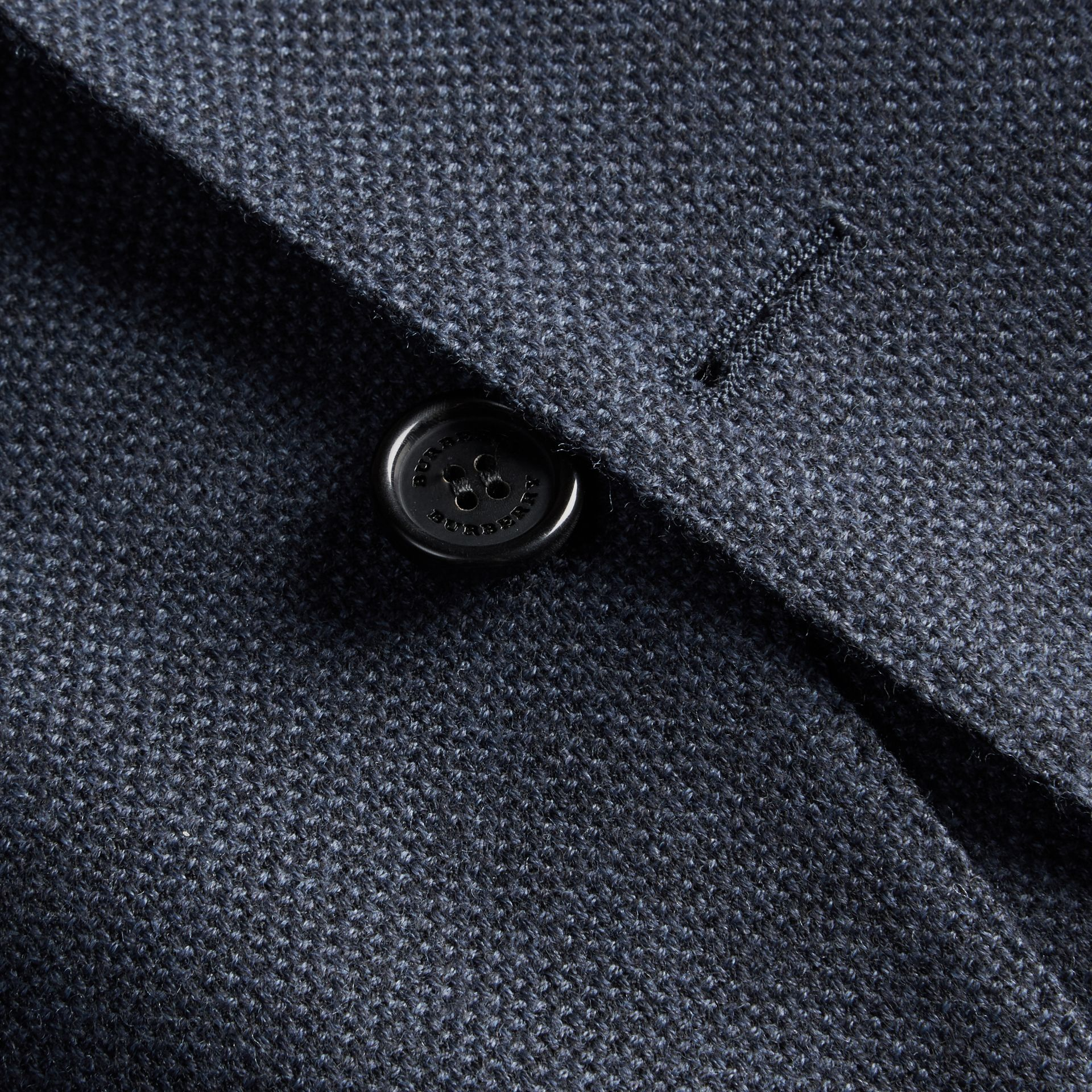 Storm blue Modern Fit Wool Cashmere Hopsack Tailored Jacket - gallery image 2