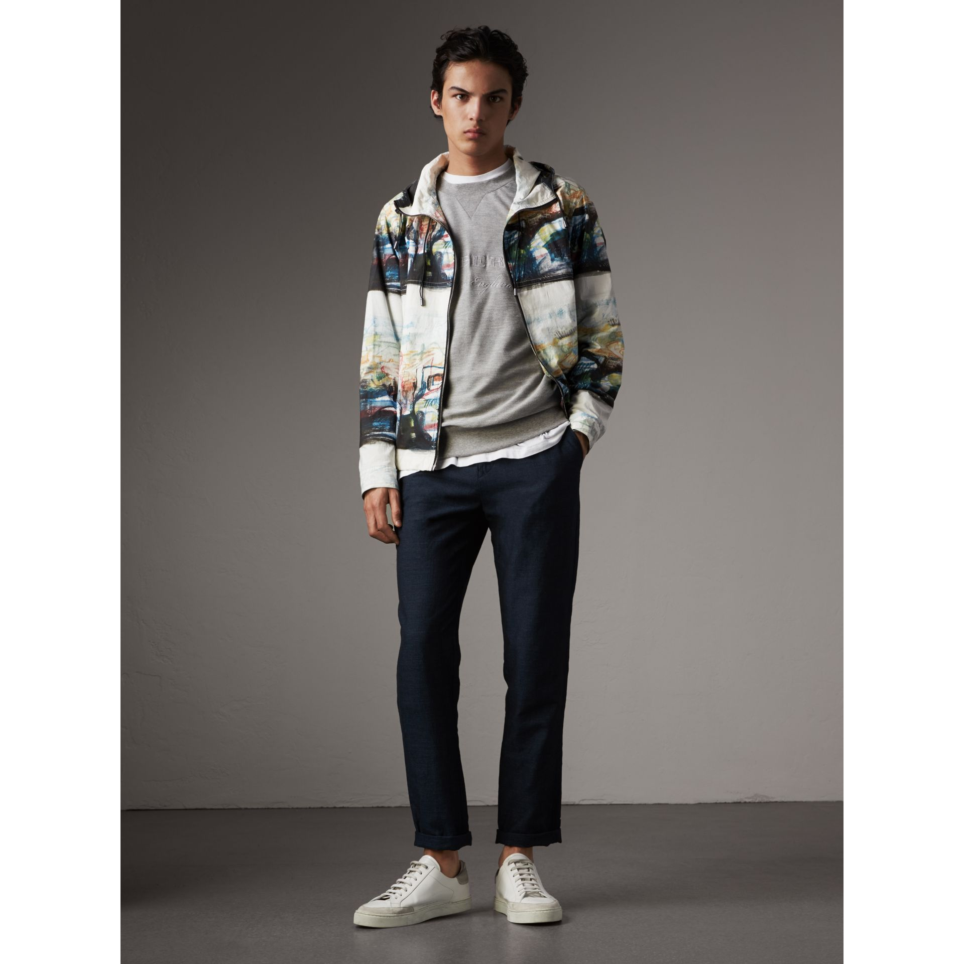 Reclining Figure: Bunched Print Hooded Jacket - Men | Burberry - gallery image 1