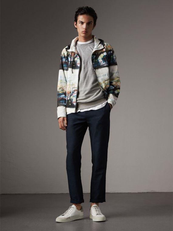 Reclining Figure: Bunched Print Hooded Jacket - Men | Burberry