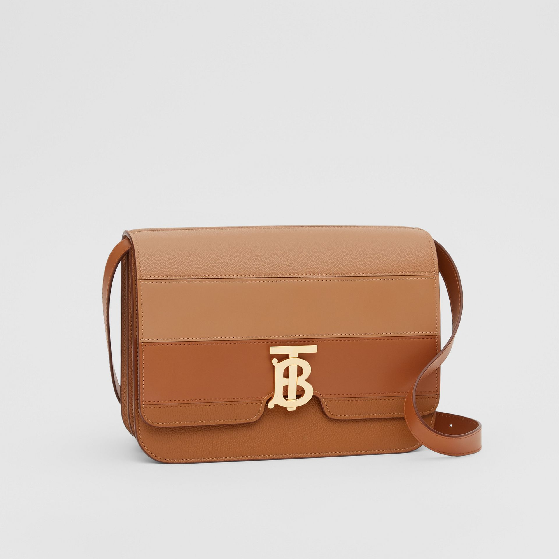 Medium Panelled Leather TB Bag in Maple - Women | Burberry - gallery image 4