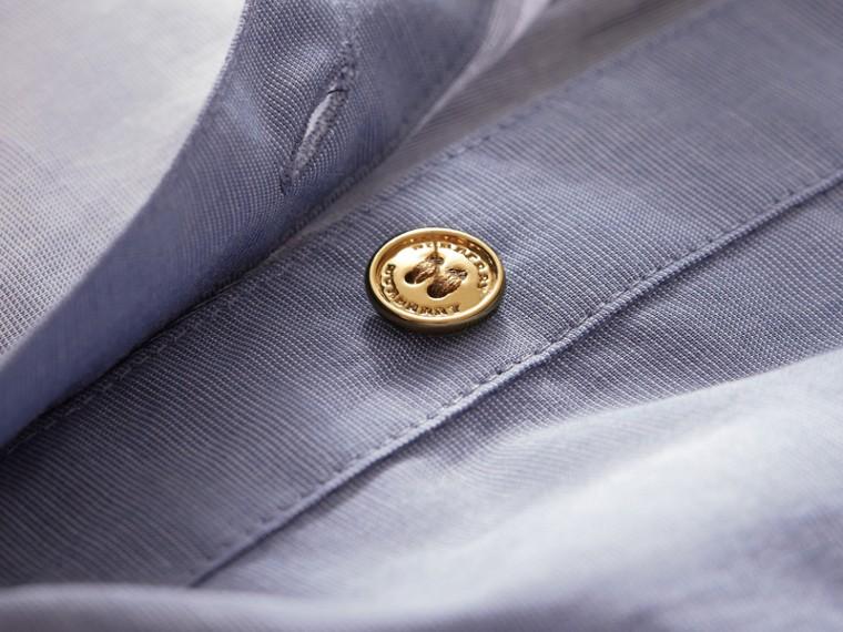 Tie-waist Check Cotton Shirt Dress - cell image 1