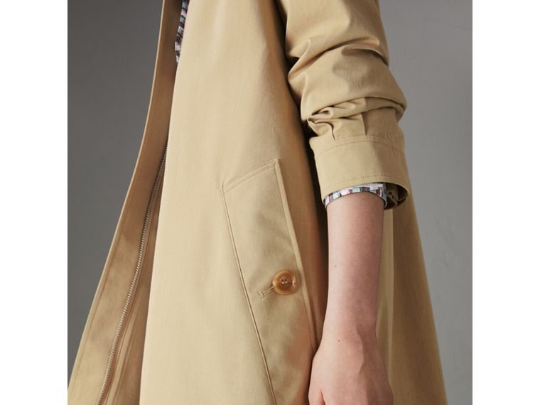 Tropical Gabardine Car Coat in Oatmeal - Women | Burberry - cell image 1