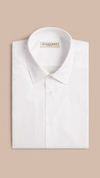 Modern Fit Short-sleeved Cotton Poplin Shirt