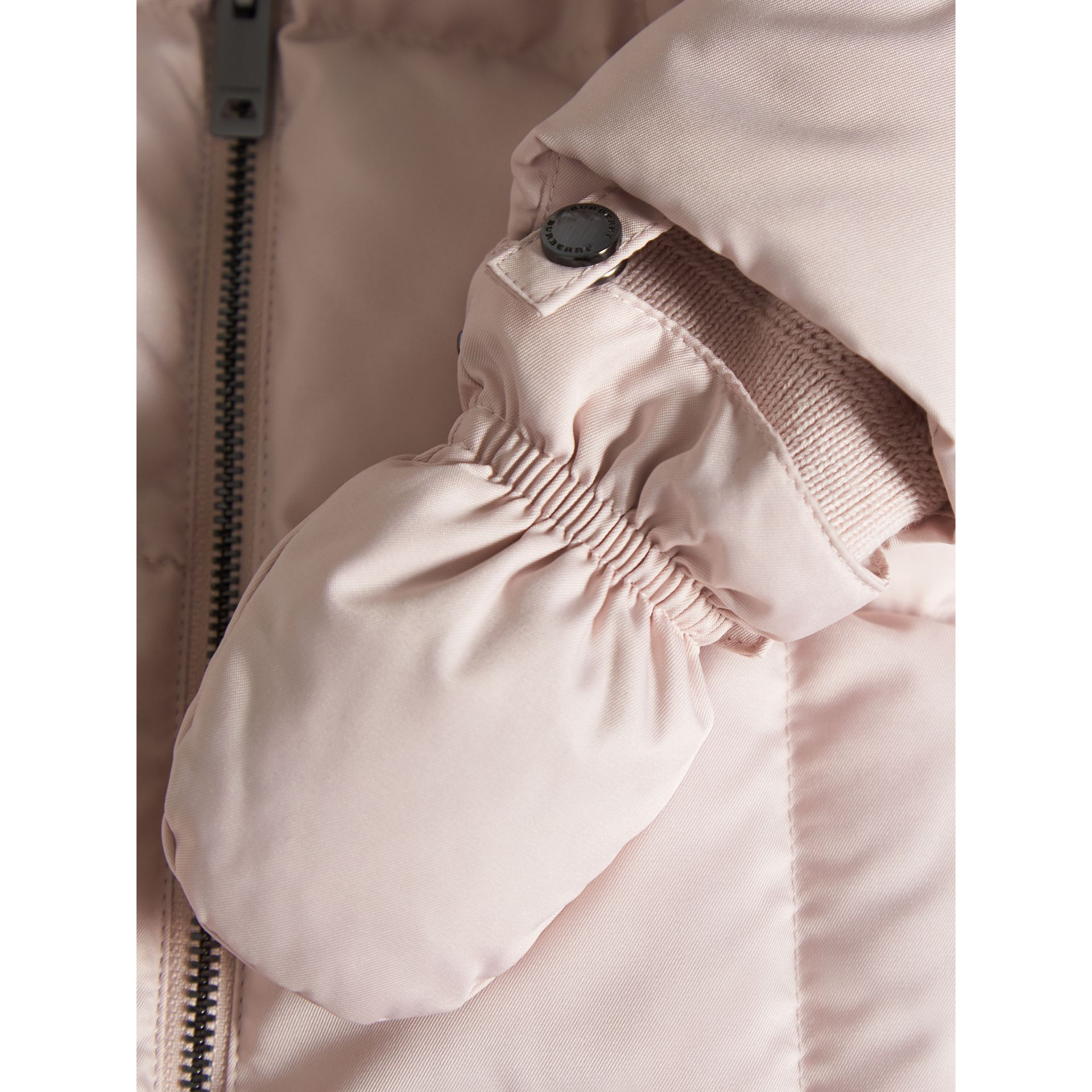 Down-filled Puffer Suit in Powder Pink | Burberry - gallery image 1