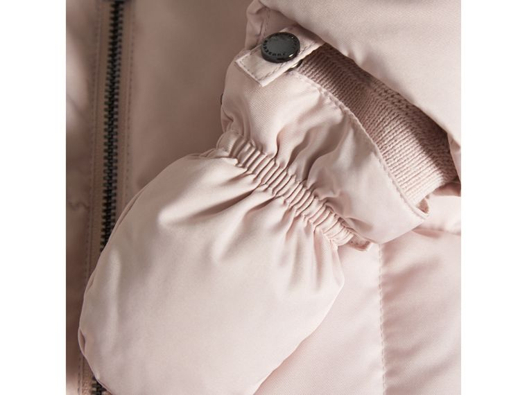 Down-filled Puffer Suit in Powder Pink | Burberry - cell image 1