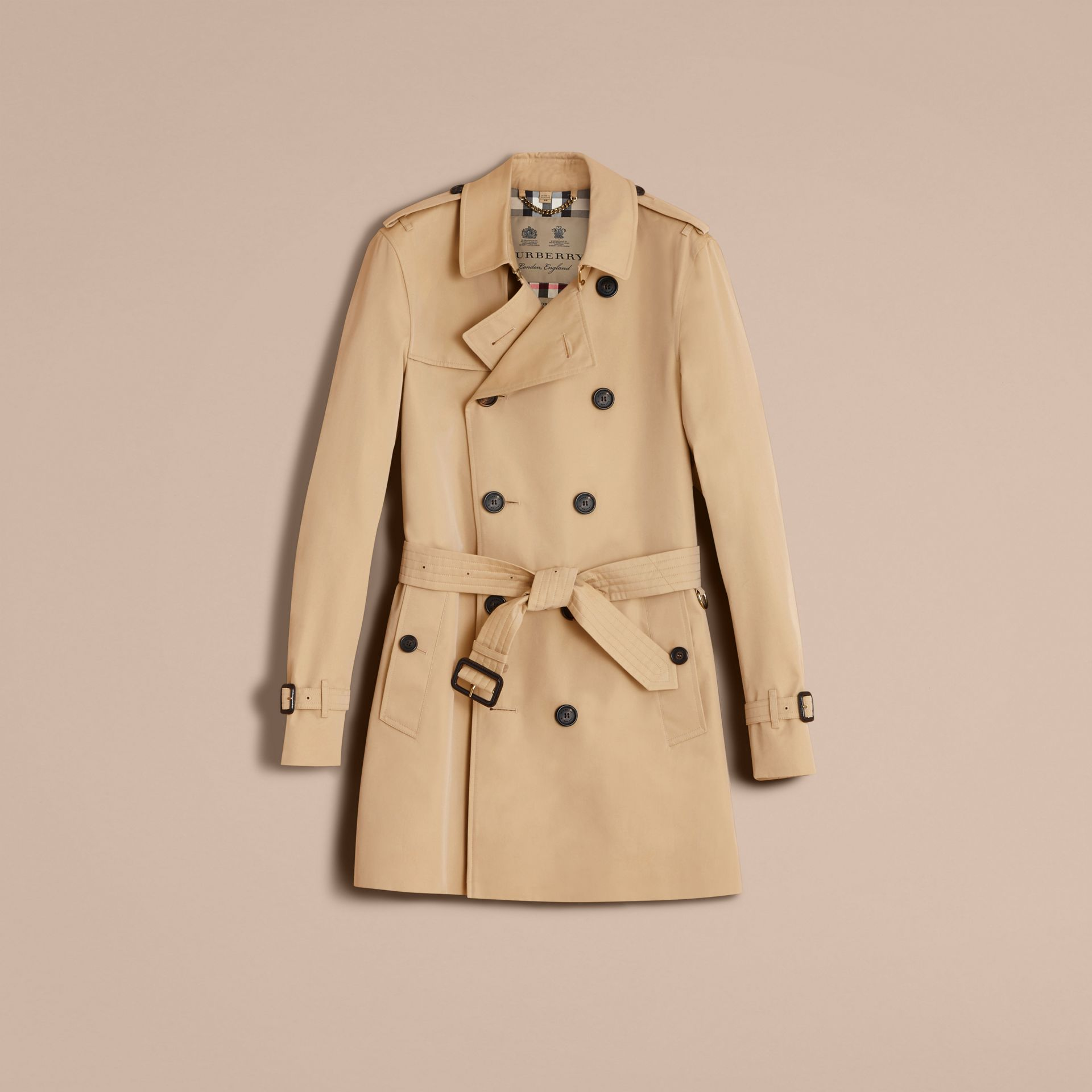 The Sandringham – Mid-length Heritage Trench Coat in Honey - Men | Burberry - gallery image 4