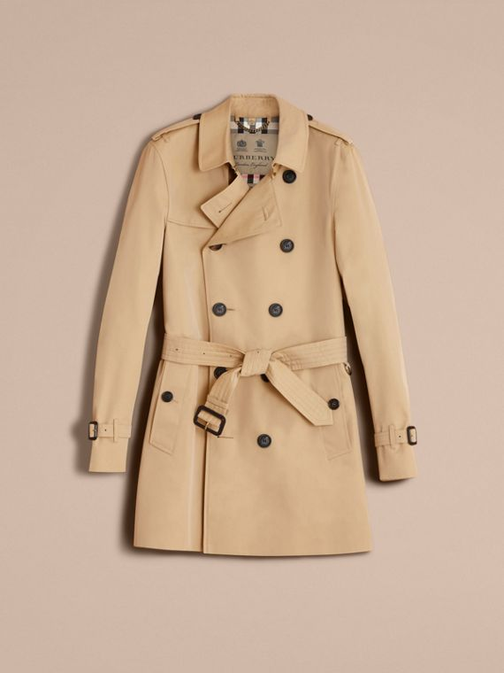 The Sandringham – Mid-length Heritage Trench Coat Honey - cell image 3