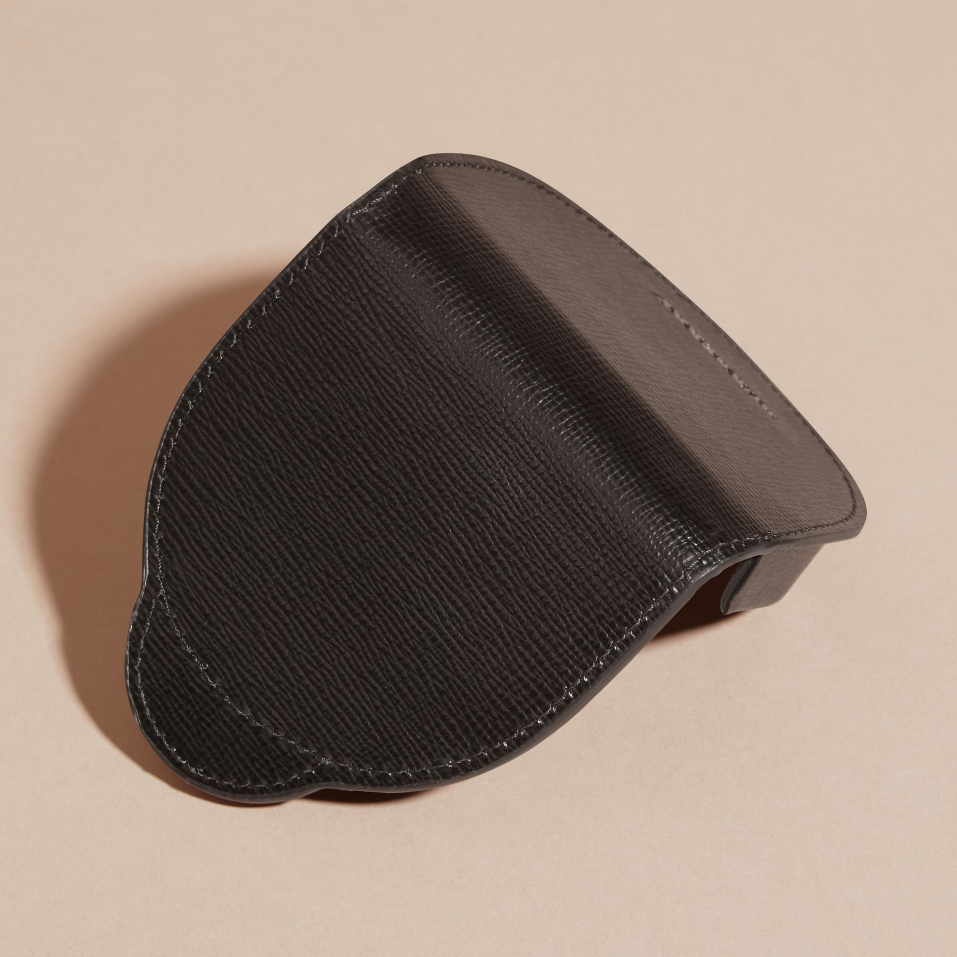 Black London Leather Coin Case Black - gallery image 3