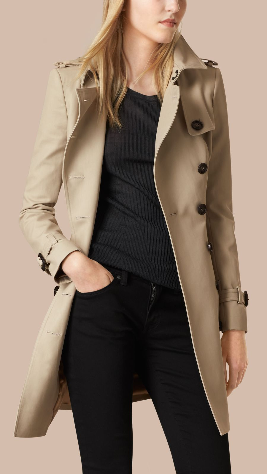 Trench Double Cotton Twill Trench Coat - Image 3