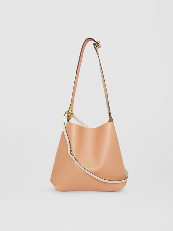 The Leather Grommet Detail Bag in Light Camel