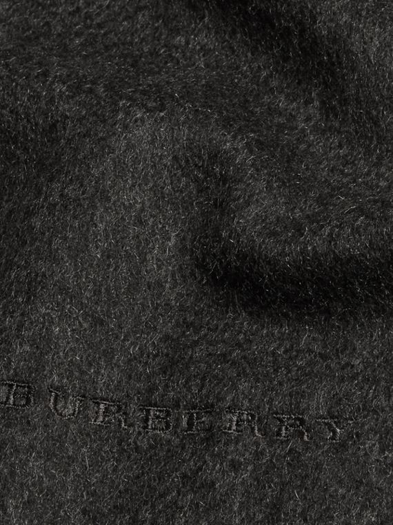 Charcoal The Mini Classic Cashmere Scarf Charcoal - cell image 3