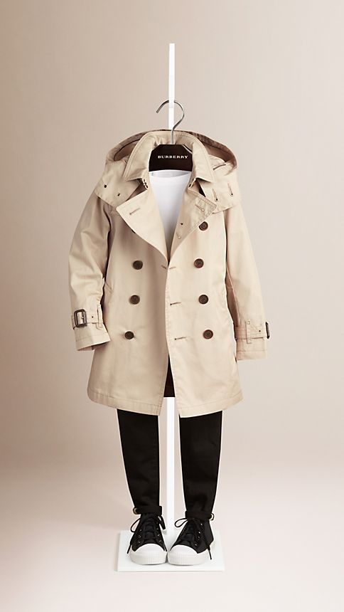 Trench Hooded Cotton Twill Trench Coat  - Image 2