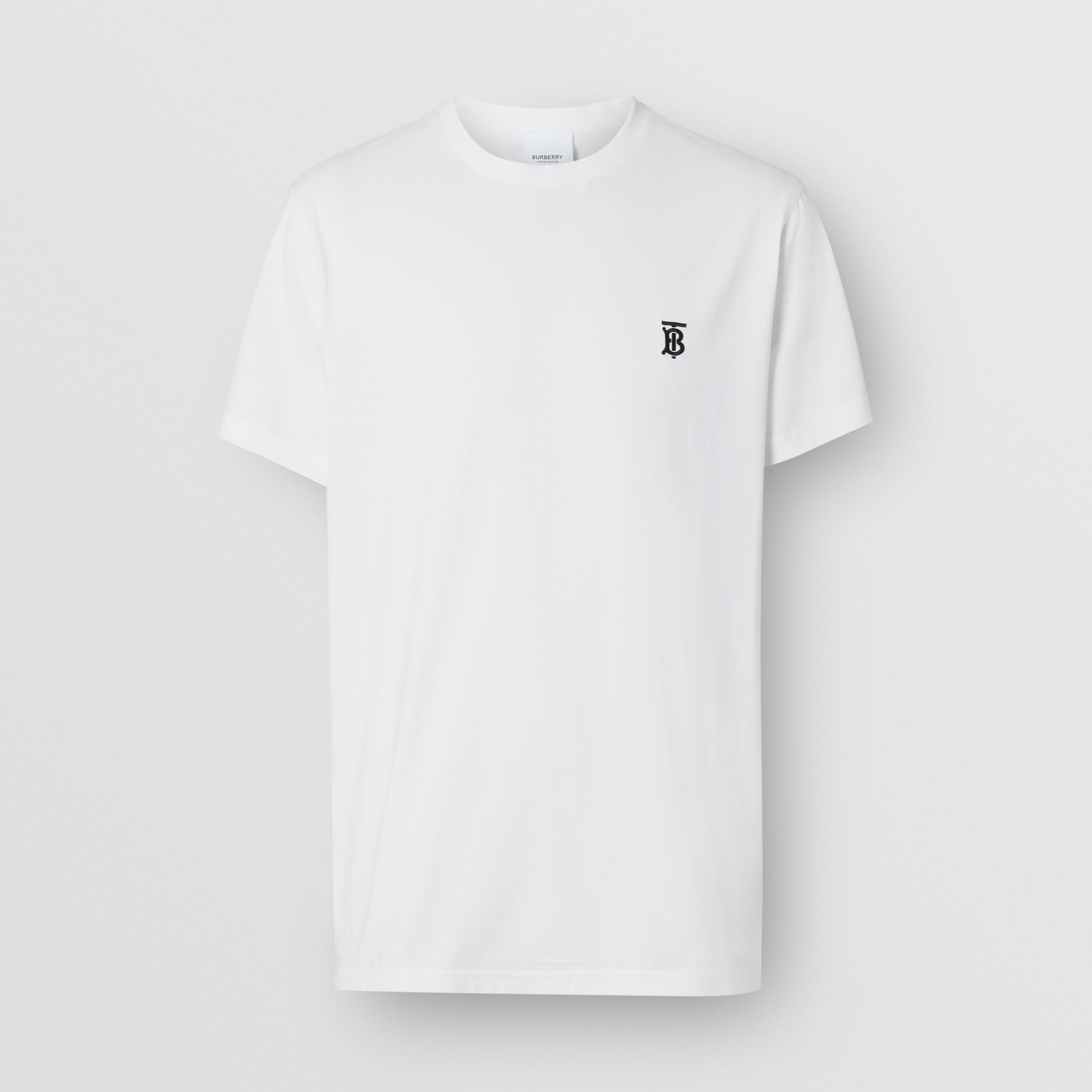Monogram Motif Cotton T-shirt in White - Men | Burberry United Kingdom - 4