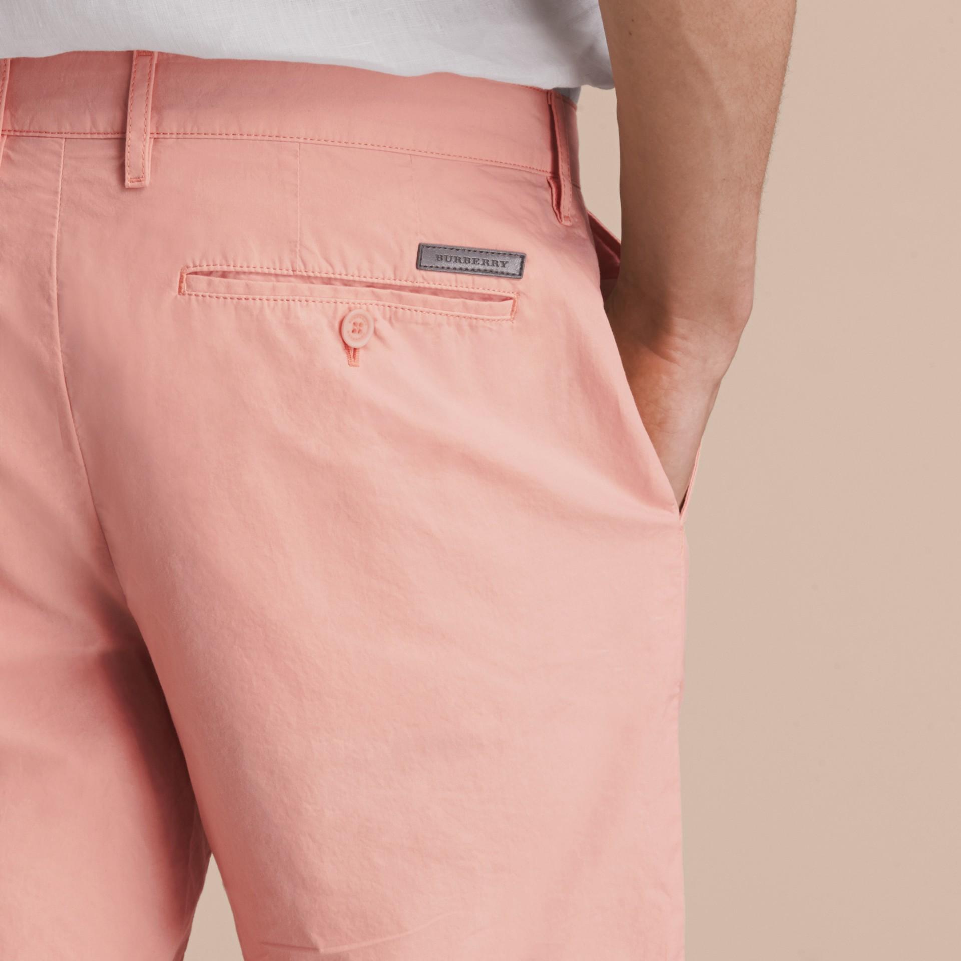 Cotton Poplin Chino Shorts Apricot Pink - gallery image 5