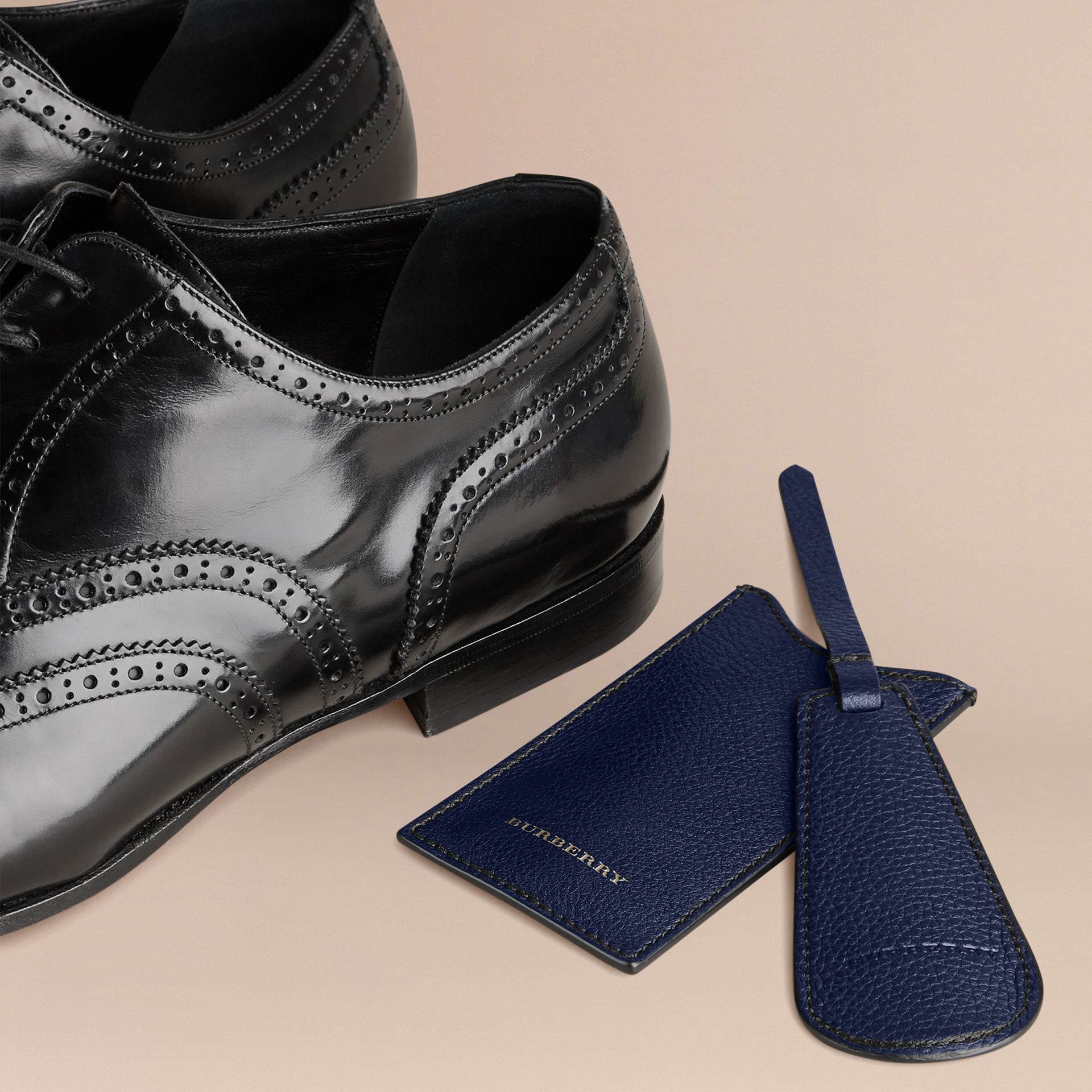 Leather Shoe Horn in Bright Navy - Men | Burberry - gallery image 4