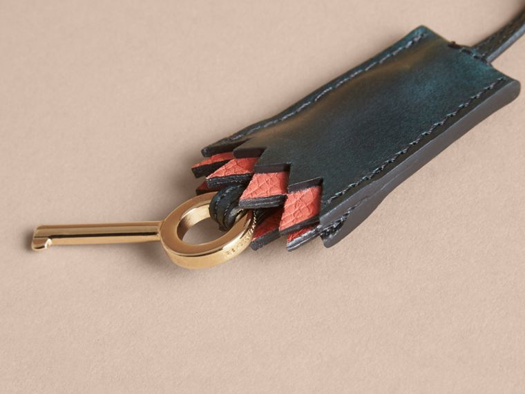 Pallas Heads Motif Leather Key Charm with Padlock in Multicolour - Women   Burberry United Kingdom - cell image 1
