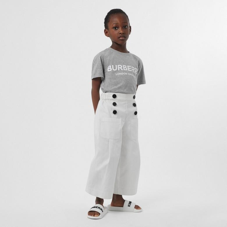 Burberry - T-shirt en coton avec logo imprimé - 3