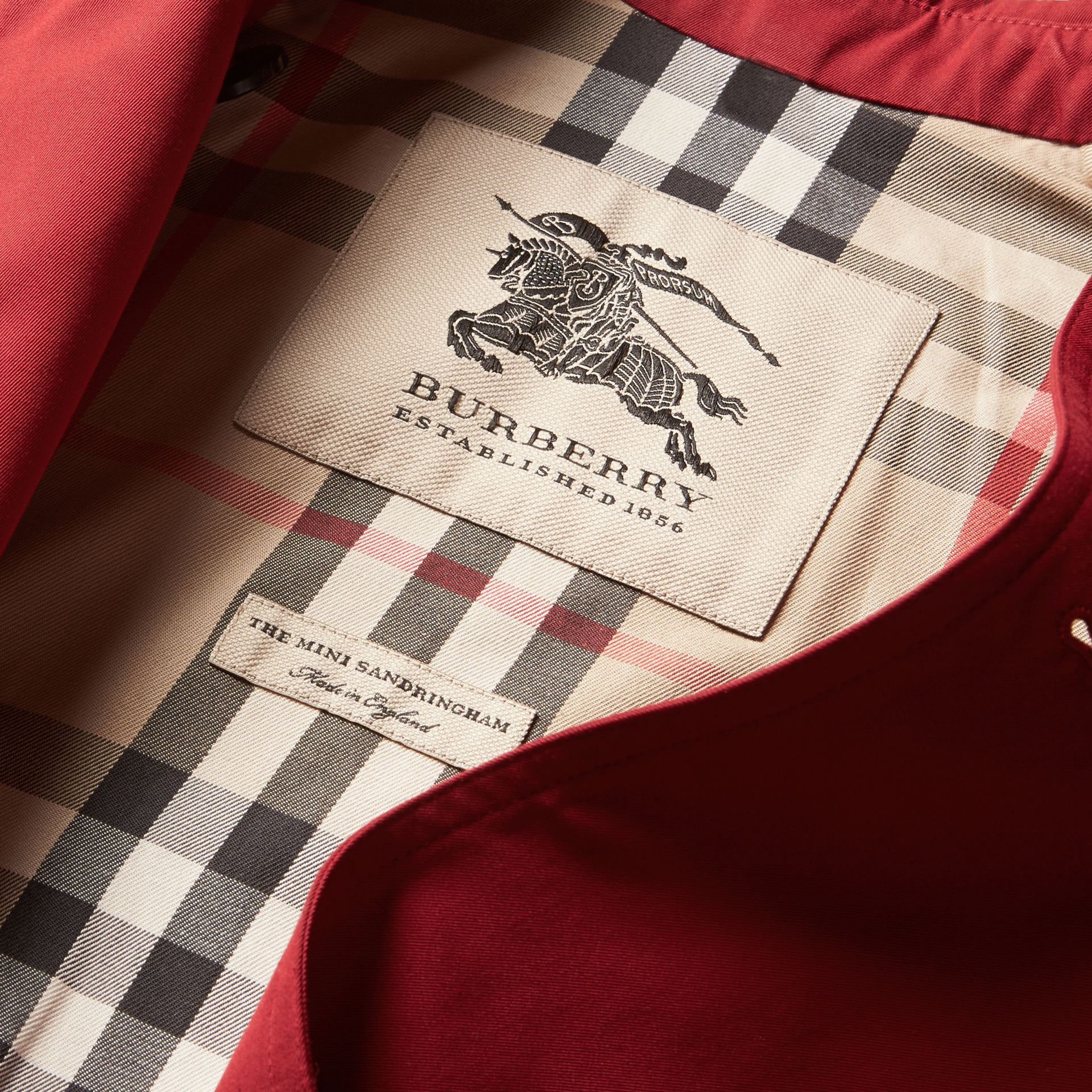 The Sandringham – Heritage Trench Coat in Parade Red - Girl | Burberry - gallery image 8
