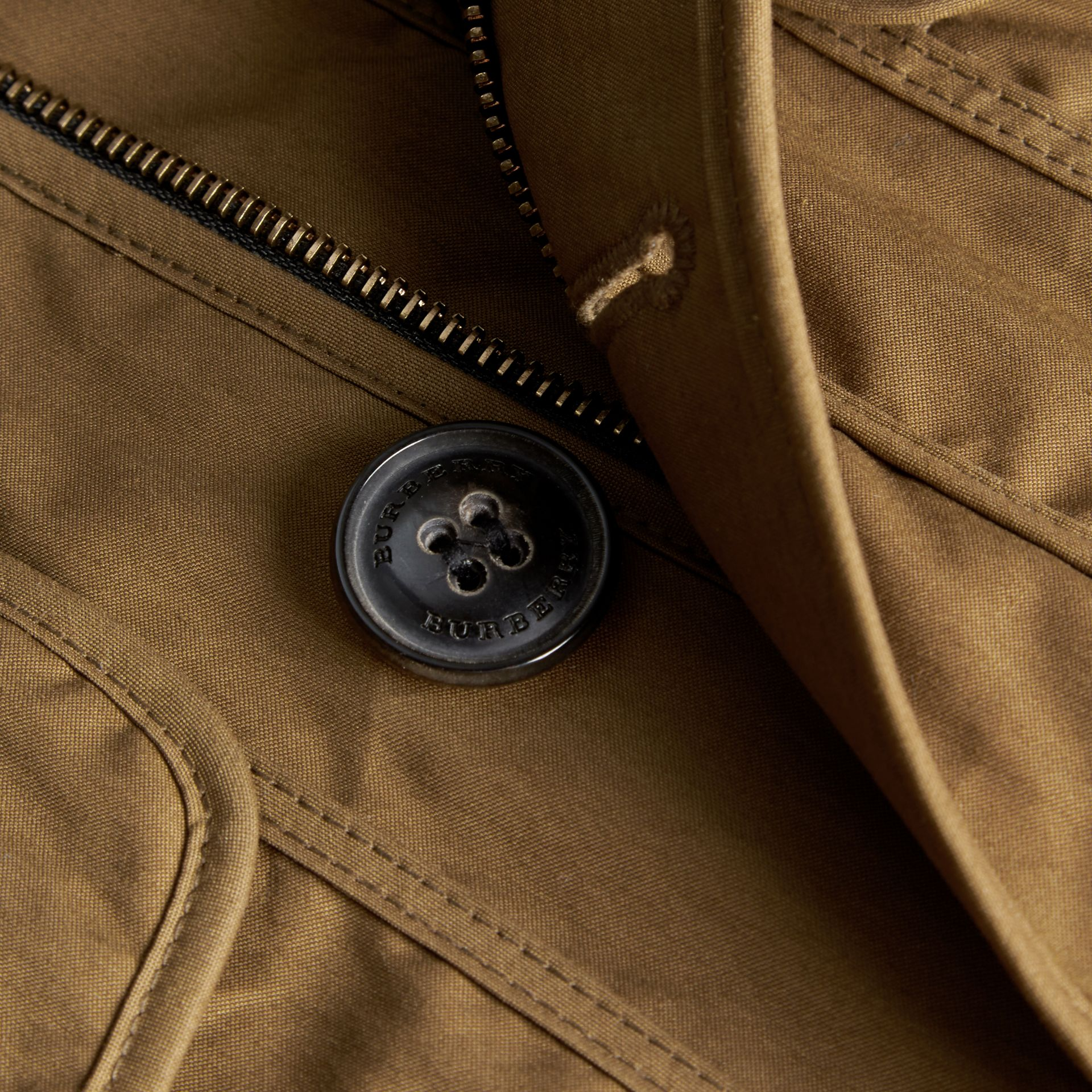 Military khaki Utility Pocket Field Jacket - gallery image 2