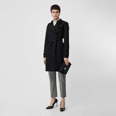 Kensington Fit Cotton Gabardine Trench Coat by Burberry