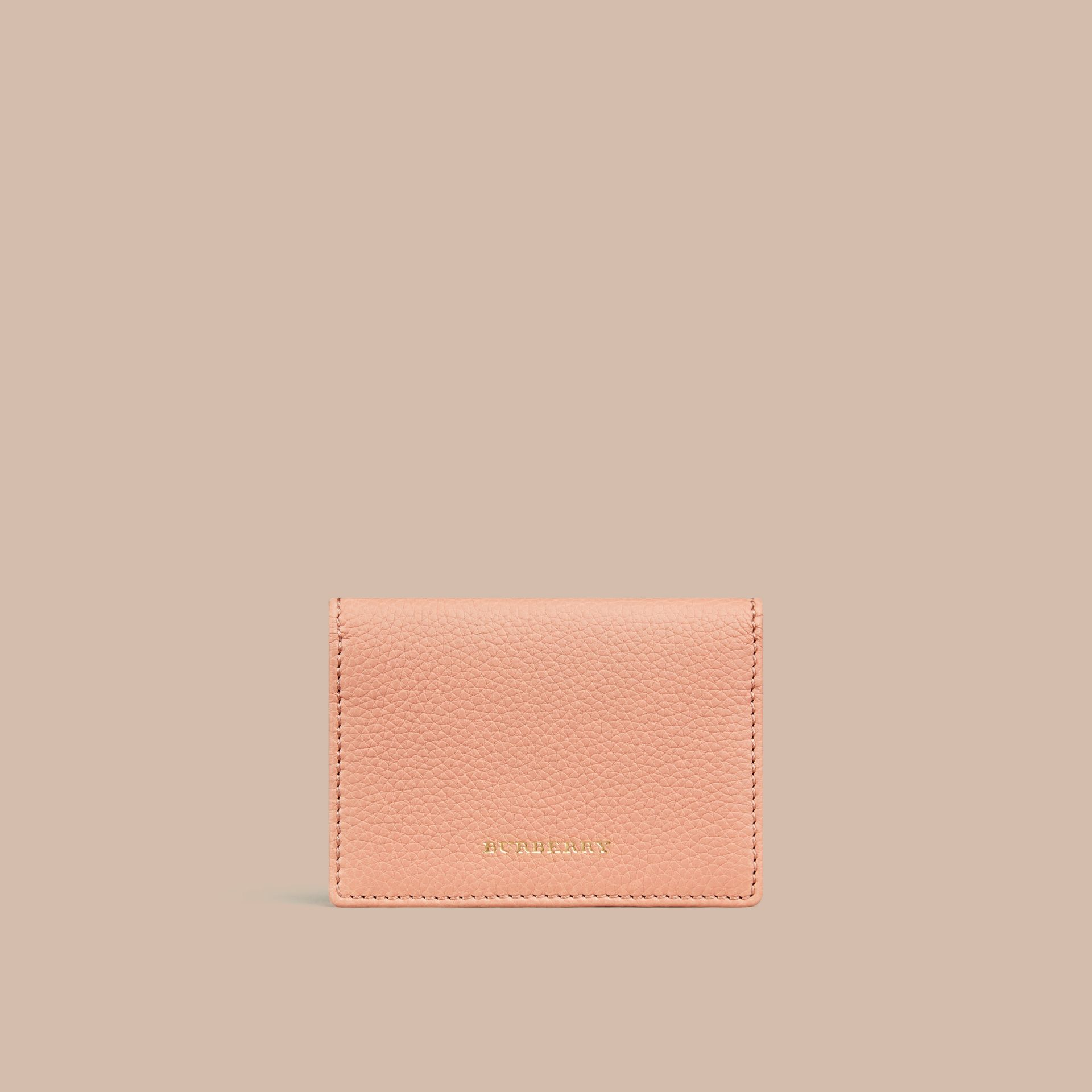 Pink apricot Grainy Leather Card Case Pink Apricot - gallery image 1
