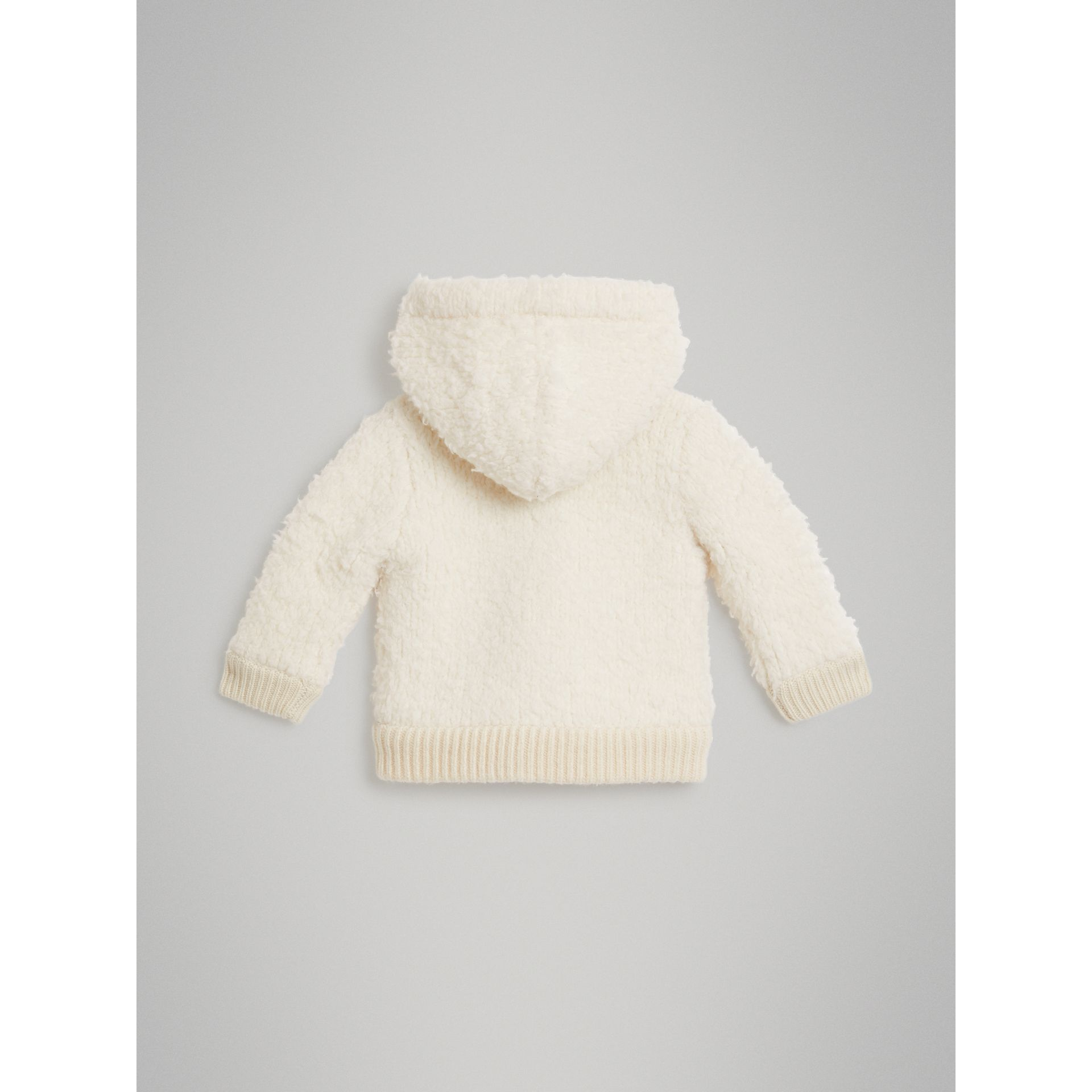 Wool Blend Hooded Top in Ivory - Children | Burberry - gallery image 3