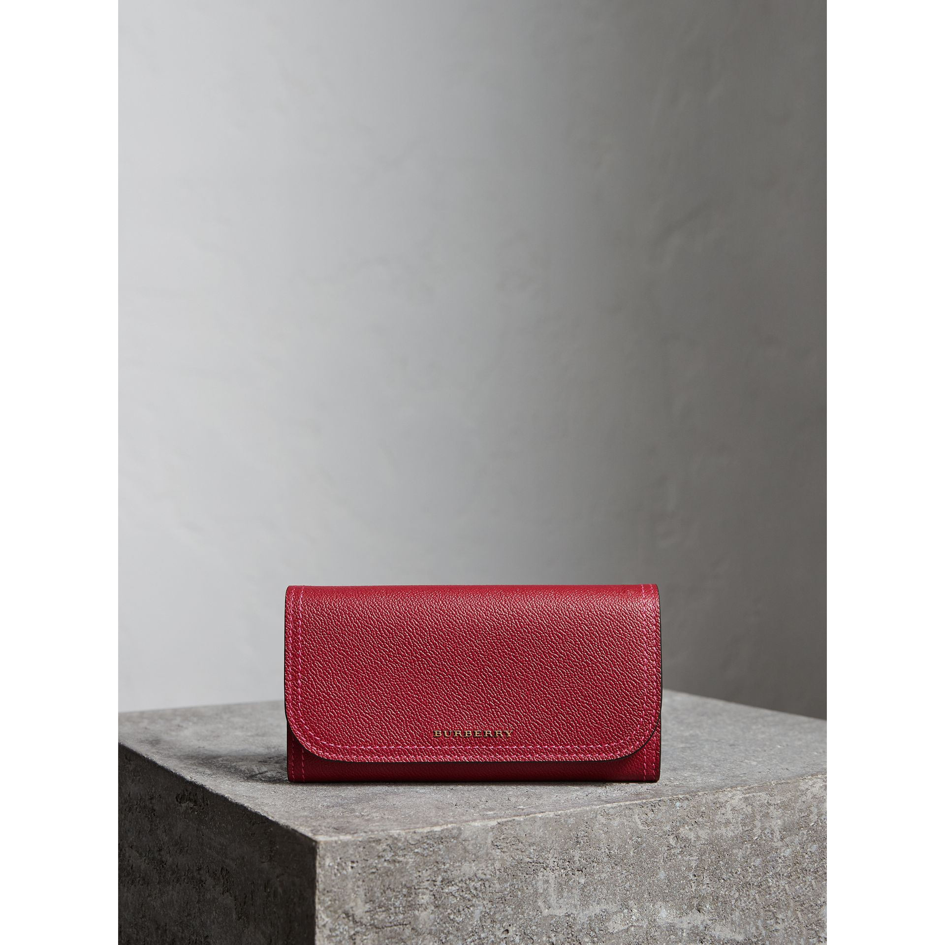 Colour Block Continental Wallet and Coin Case in Parade Red/multicolour - Women | Burberry - gallery image 4