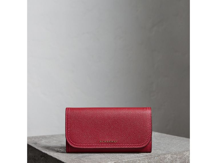 Colour Block Continental Wallet and Coin Case in Parade Red/multicolour - Women | Burberry - cell image 4