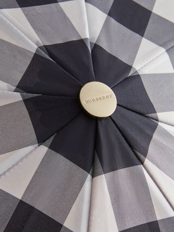 Check Folding Umbrella in Plum - cell image 3
