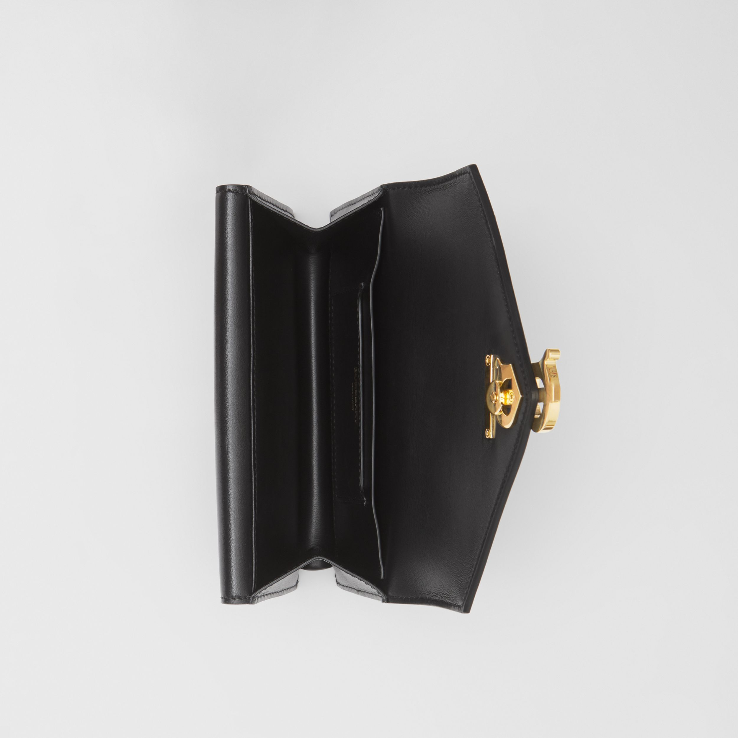 Belted Quilted Lambskin TB Envelope Clutch in Black - Women | Burberry - 3
