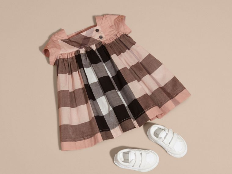Antique pink Check Cotton Dress - cell image 4